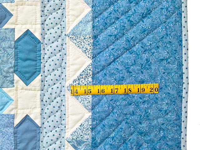 King Pastel Blue and Cream Starry Sky Quilt Photo 7
