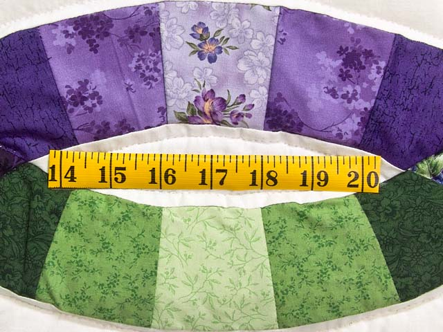 King Green and Purple Double Wedding Ring Quilt Photo 6