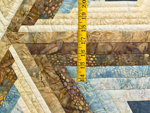 King Pastel Blue and Gold Diamond Star Log Cabin Quilt Photo 5