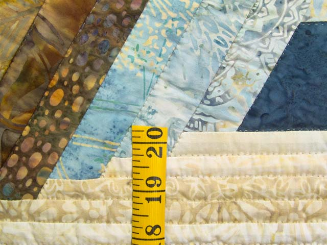 King Pastel Blue and Gold Diamond Star Log Cabin Quilt Photo 6