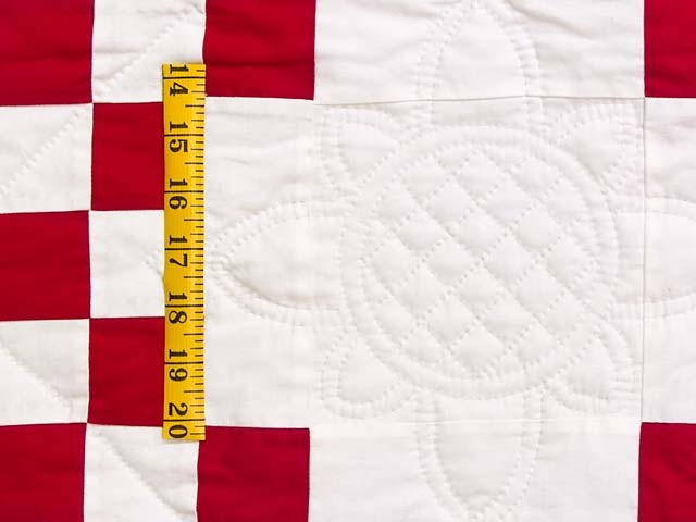 Red and White Double Irish Chain Quilt Photo 5