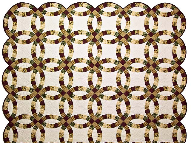 Earthtones Double Wedding Ring Quilt Photo 2