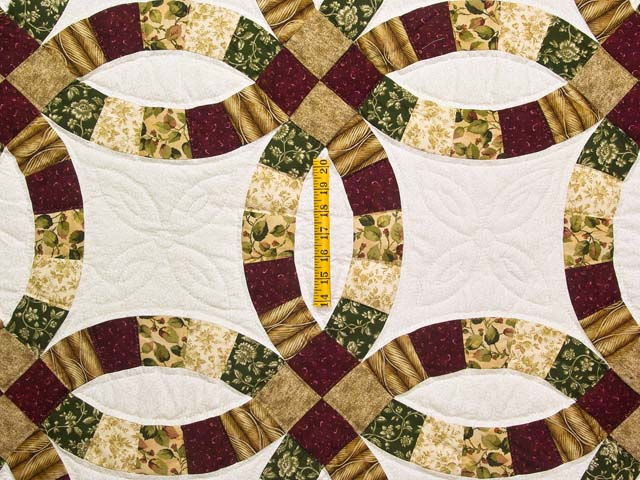Earthtones Double Wedding Ring Quilt Photo 4