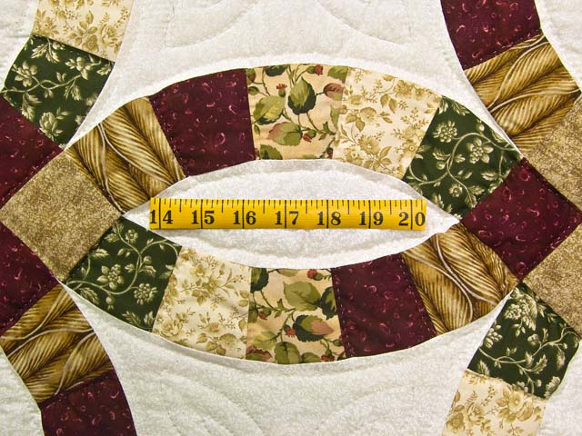 Earthtones Double Wedding Ring Quilt Photo 5