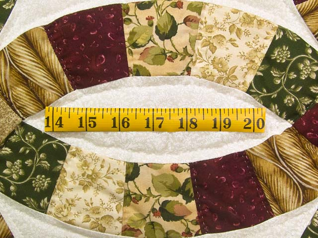Earthtones Double Wedding Ring Quilt Photo 6