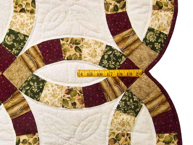 Earthtones Double Wedding Ring Quilt Photo 7