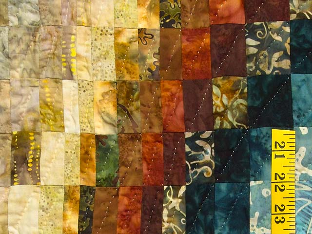 King Hand Painted Bargello Wave Quilt Photo 5