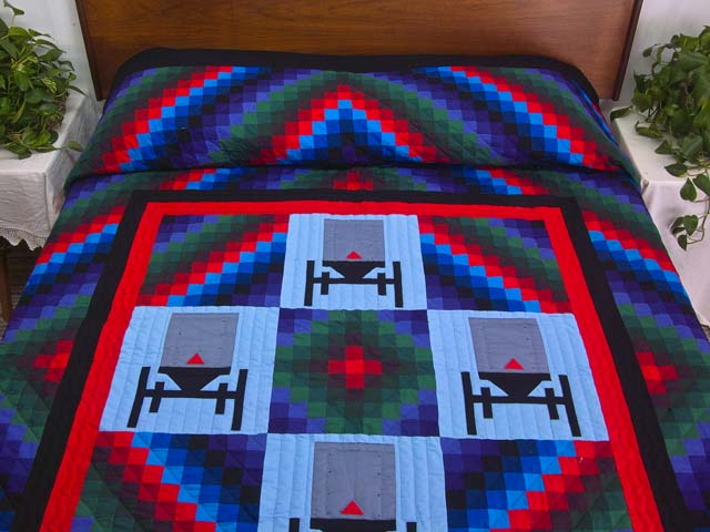 King Amish Sunshine and Shadow Buggies Quilt Photo 1