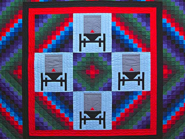 King Amish Sunshine and Shadow Buggies Quilt Photo 3