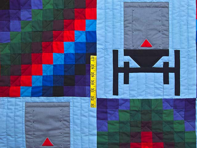 King Amish Sunshine and Shadow Buggies Quilt Photo 4