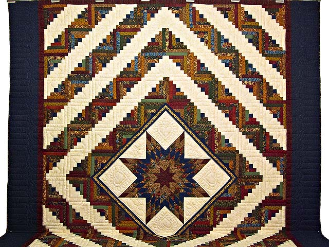 King Country Colors Lone Star Log Cabin Quilt Photo 2