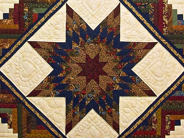 King Country Colors Lone Star Log Cabin Quilt Photo 3