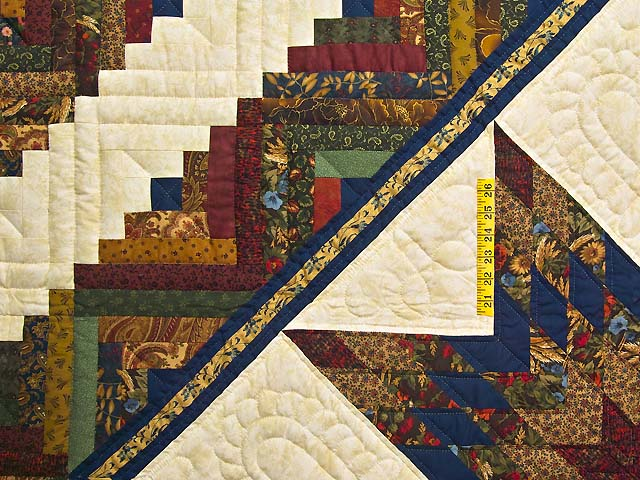 King Country Colors Lone Star Log Cabin Quilt Photo 4