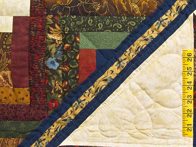 King Country Colors Lone Star Log Cabin Quilt Photo 5