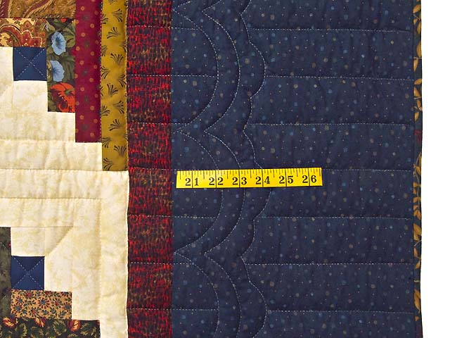 King Country Colors Lone Star Log Cabin Quilt Photo 6