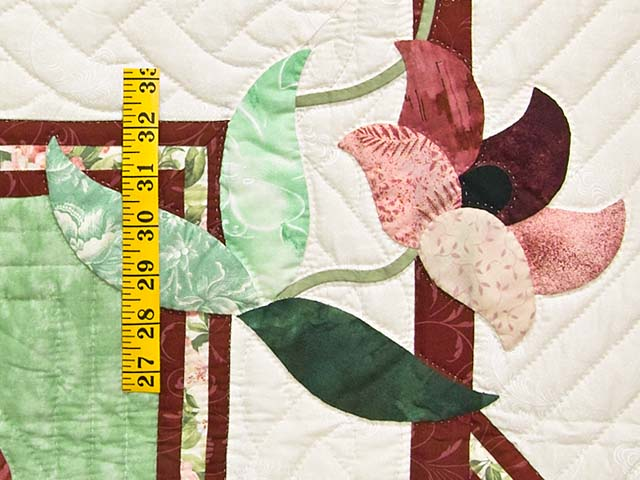Mint and Rose on Ivory Rainbow Reflections Quilt Photo 5