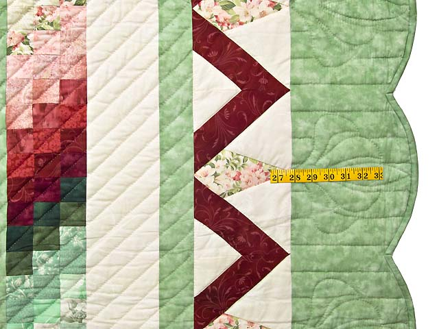 Mint and Rose on Ivory Rainbow Reflections Quilt Photo 7