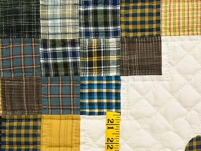 King Plaid with Hearts Triple Irish Chain Quilt Photo 5
