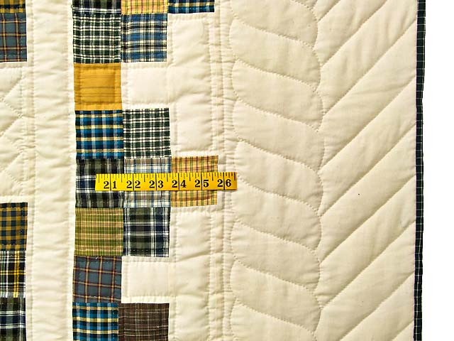 King Plaid with Hearts Triple Irish Chain Quilt Photo 6