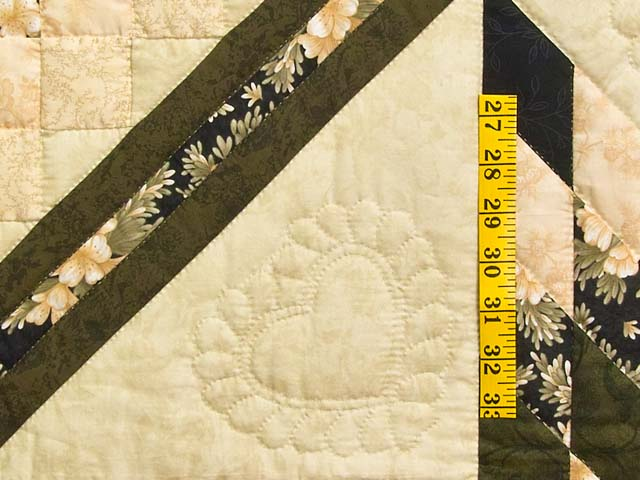 Moss Peach and Black Lone Star Trip Quilt Photo 5