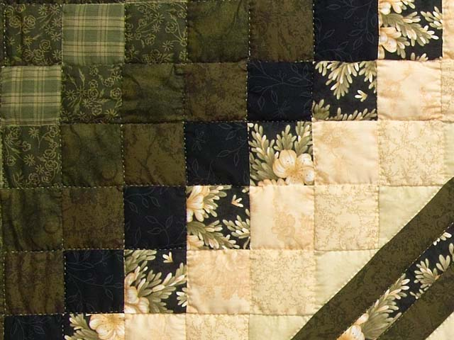 Moss Peach and Black Lone Star Trip Quilt Photo 6