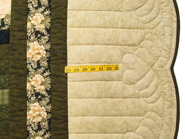 Moss Peach and Black Lone Star Trip Quilt Photo 7