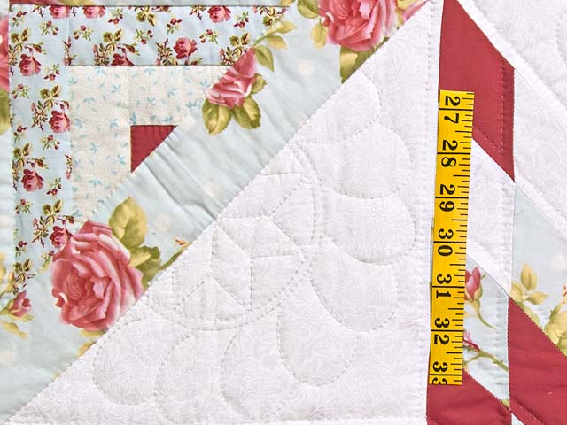 Pastel Rose Blue and Cream Lone Star Log Cabin Quilt Photo 5