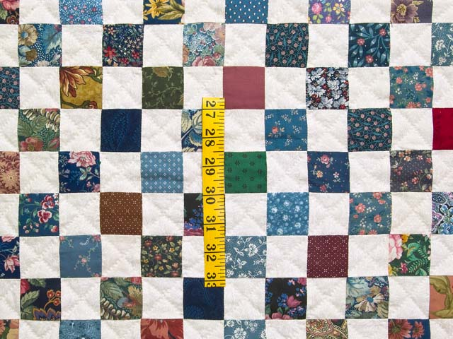 King Multicolor Hit or Miss Quilt Photo 4