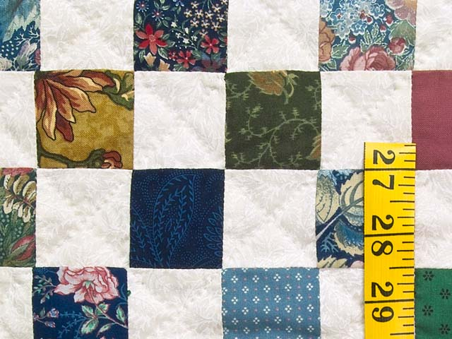King Multicolor Hit or Miss Quilt Photo 5