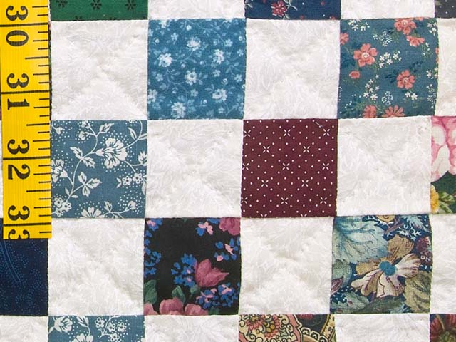 King Multicolor Hit or Miss Quilt Photo 6