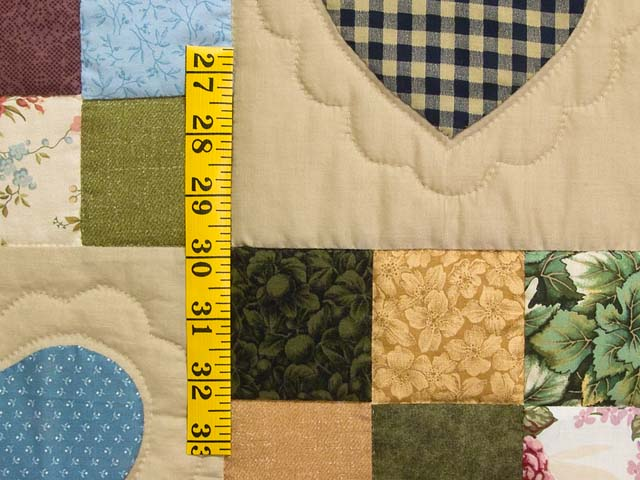 King Olive Green Burgundy and Multi Hearts and Nine Patch Quilt Photo 5