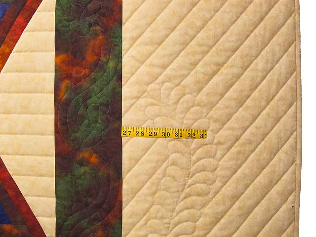 King Red Mauve and Multicolor  Diamond Star Log Cabin Quilt Photo 6