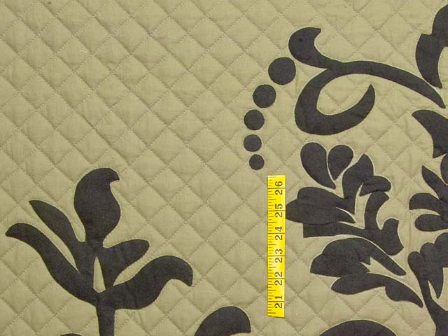King Moss and Black Laura Quilt with Shams Photo 5