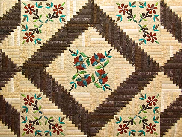 King Golden Tan Brown and Multi  Elizabeth Quilt Photo 3
