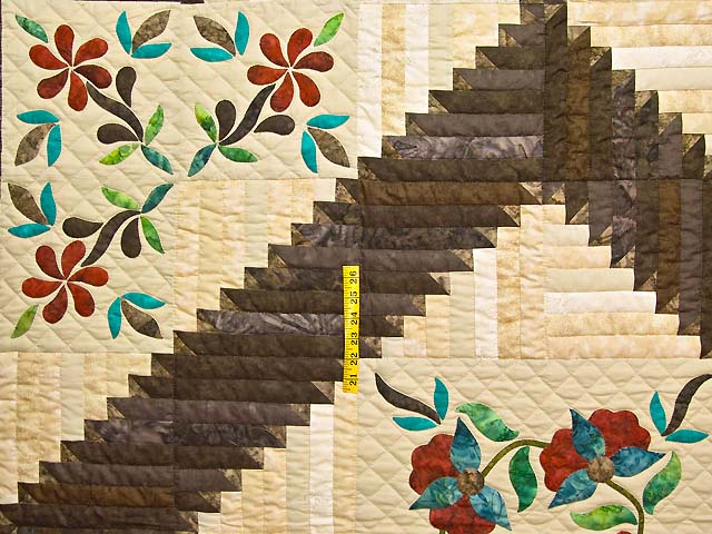 King Golden Tan Brown and Multi  Elizabeth Quilt Photo 4