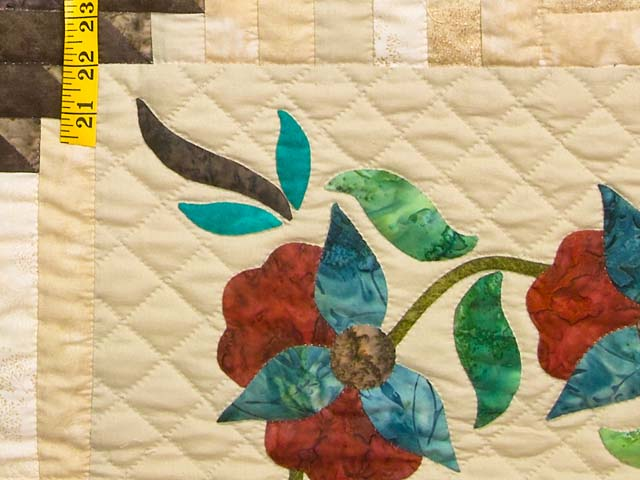 King Golden Tan Brown and Multi  Elizabeth Quilt Photo 5