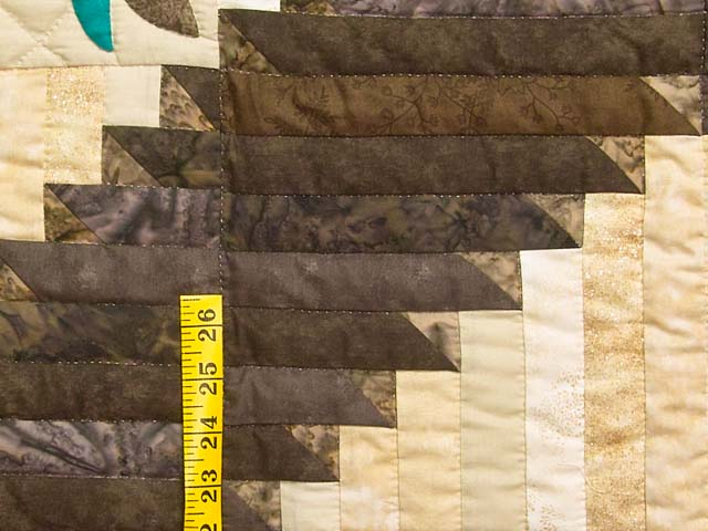 King Golden Tan Brown and Multi  Elizabeth Quilt Photo 6