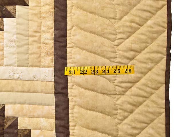 King Golden Tan Brown and Multi  Elizabeth Quilt Photo 7