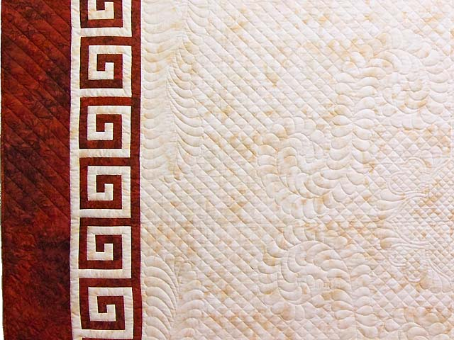 King Red and Golden Cream Carolyn Quilt with Shams Photo 3