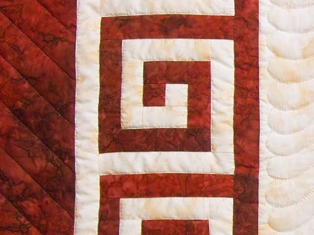 King Red and Golden Cream Carolyn Quilt with Shams Photo 6