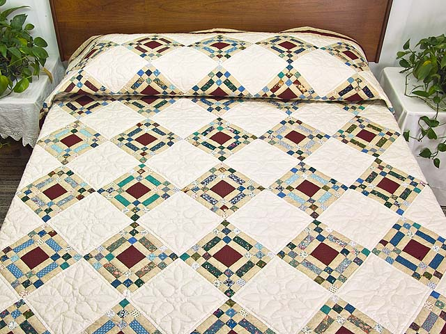 King Country Colors Nine Patch on Point Quilt Photo 1