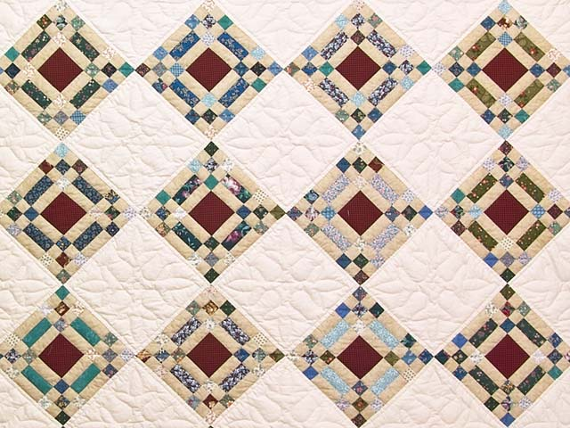 King Country Colors Nine Patch on Point Quilt Photo 3