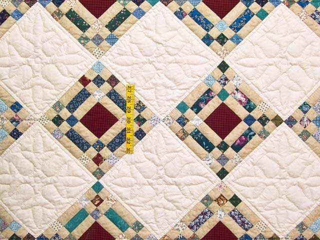 King Country Colors Nine Patch on Point Quilt Photo 4