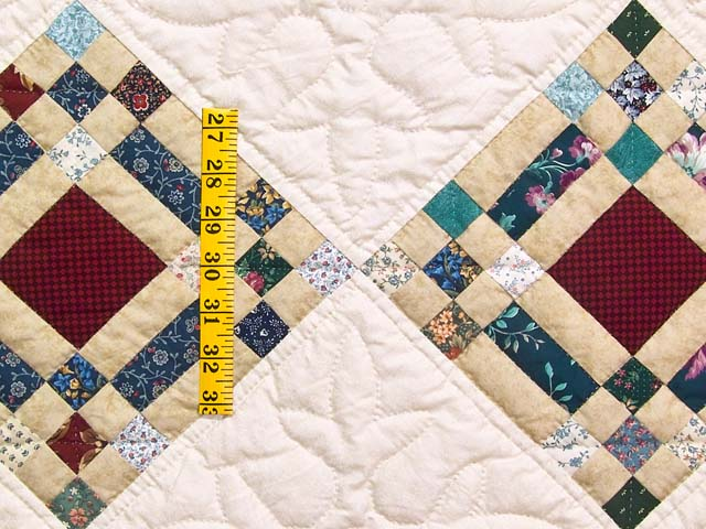 King Country Colors Nine Patch on Point Quilt Photo 5