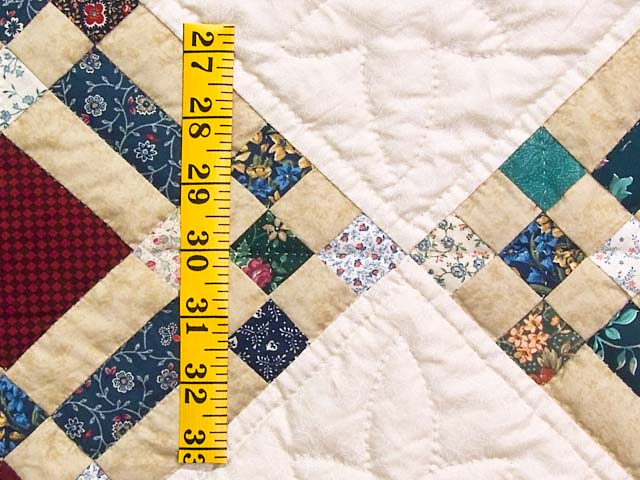 King Country Colors Nine Patch on Point Quilt Photo 6
