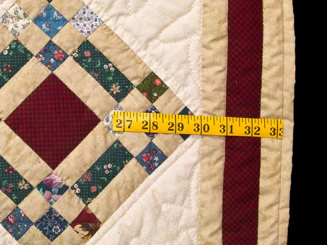 King Country Colors Nine Patch on Point Quilt Photo 7