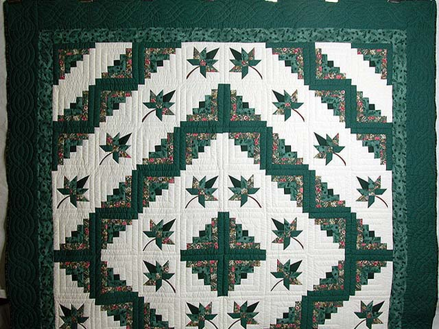 Green Cabin Splendor Quilt Photo 2