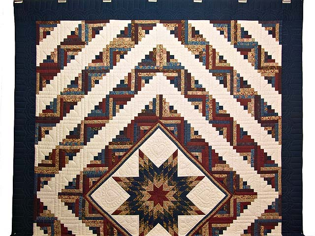 Country Colors Lone Star Log Cabin Quilt Photo 2