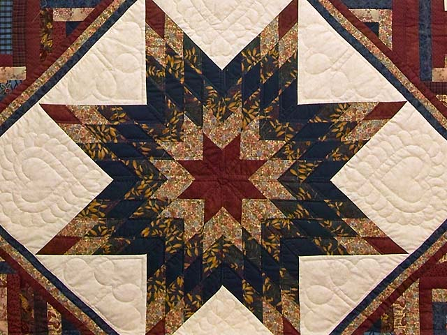 Country Colors Lone Star Log Cabin Quilt Photo 3