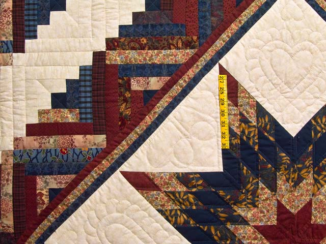 Country Colors Lone Star Log Cabin Quilt Photo 4